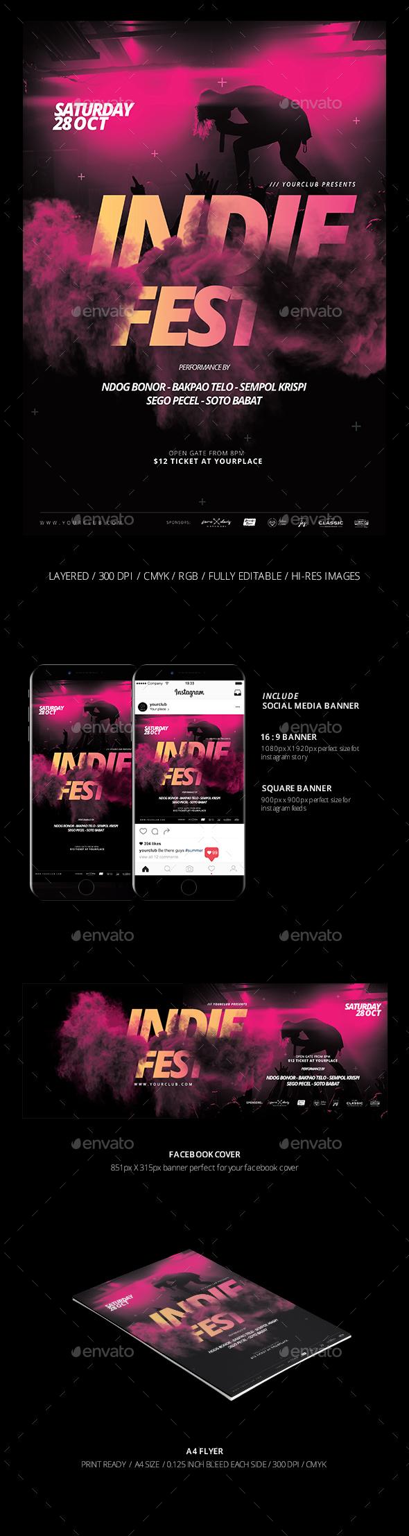 Music Flyer &  Social Media Banner - Events Flyers
