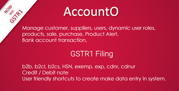 AccountO - Accounting & Inventory Management System ( GST Compliance ) - CodeCanyon Item for Sale