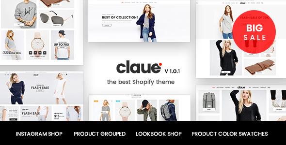 ThemeForest Claue Clean Minimal Shopify Theme 20548623