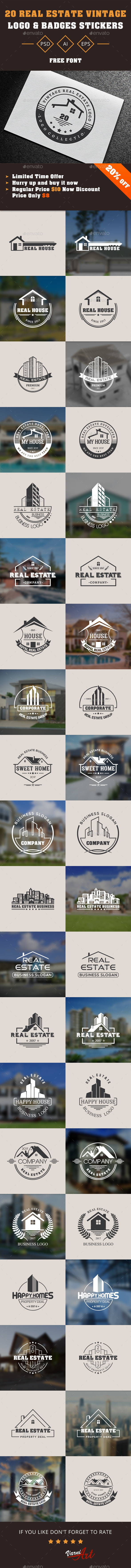 GraphicRiver 20 Real Estate Vintage Label 20761909