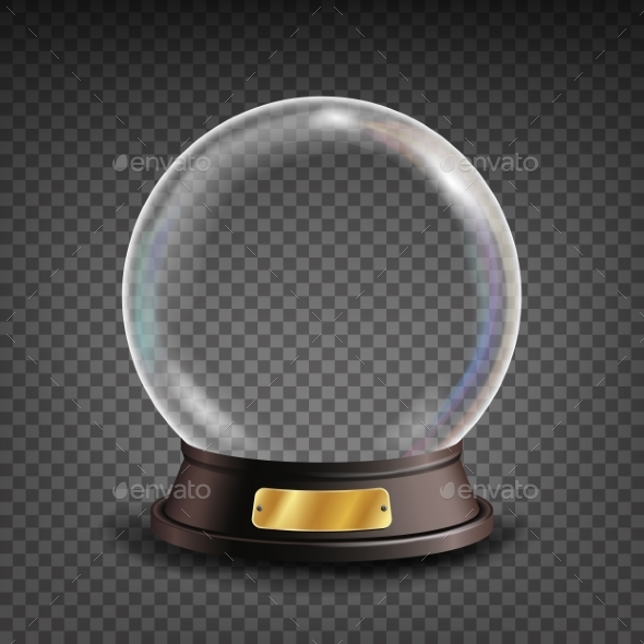 Empty Snow Globe Vector - Christmas Seasons/Holidays