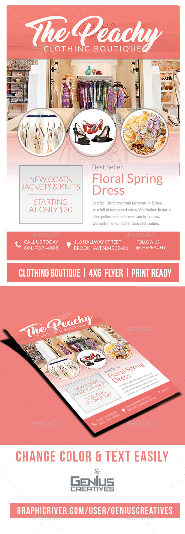 Fashion Clothing Boutique Flyer - Commerce Flyers