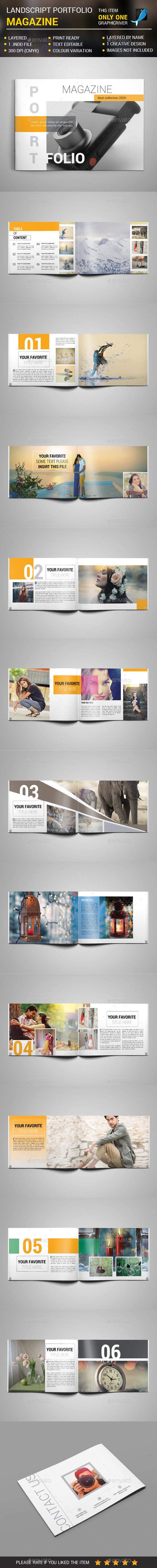 Landscape Portfolio Magazine - Magazines Print Templates