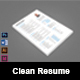 The Clean Resume/CV