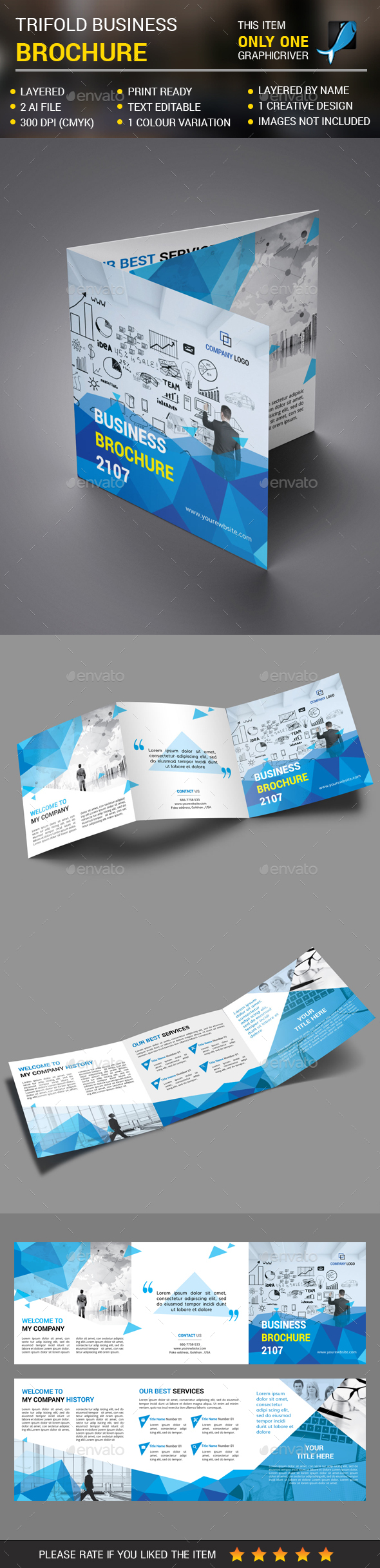 Square Corporate Trifold vol 4 - Corporate Brochures