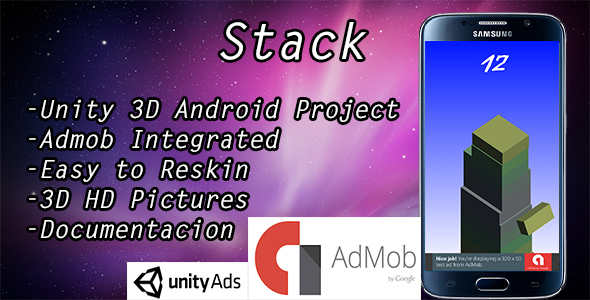 Stack game with Admob banner and Interstitial - CodeCanyon Item for Sale