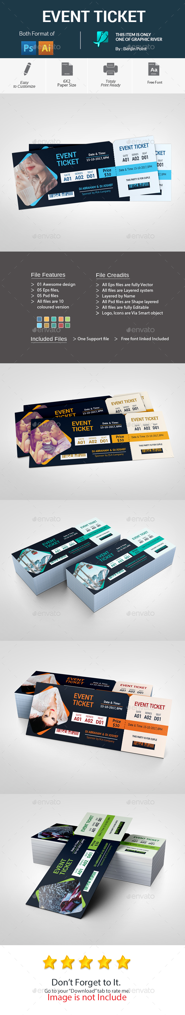 GraphicRiver Event Ticket 20762620