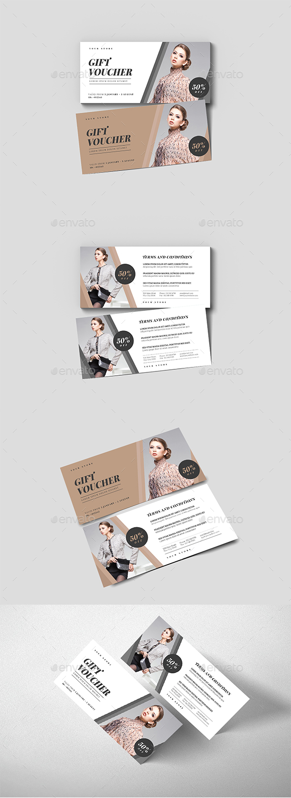 Simple Fashion Gift Voucher - Loyalty Cards Cards & Invites