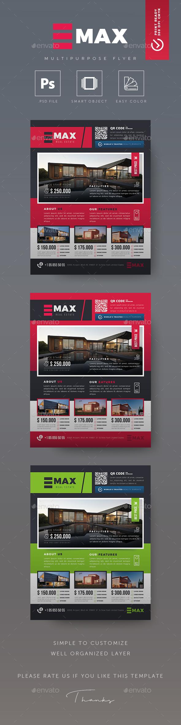 GraphicRiver Real Estate Flyer 20740805