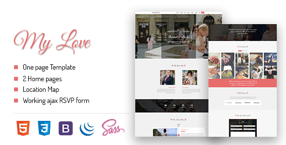 Download MyLove – Responsive Wedding Template
