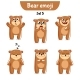 Set of Bear Characters Set 5