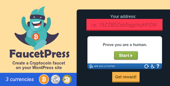 CodeCanyon FaucetPress Bitcoin faucet for WordPress 20763023