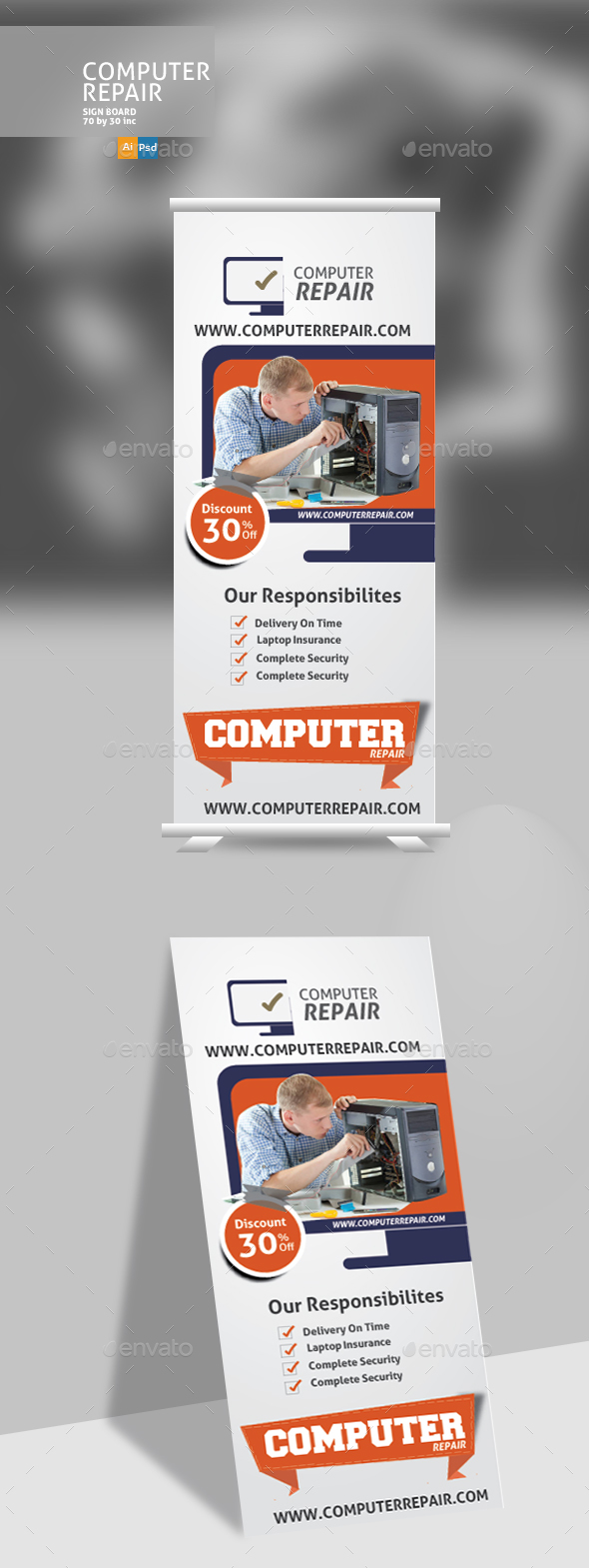 GraphicRiver Computer Repair Banner 20763108