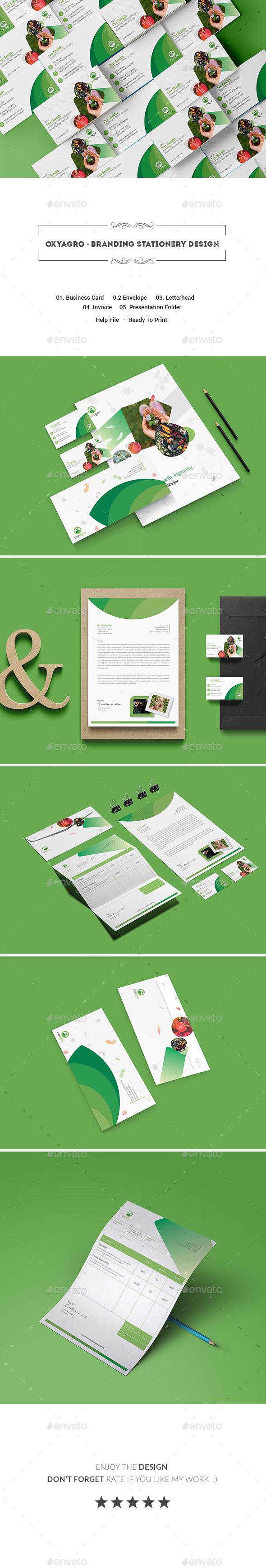 Oxyagro - Branding Stationary Design - Stationery Print Templates