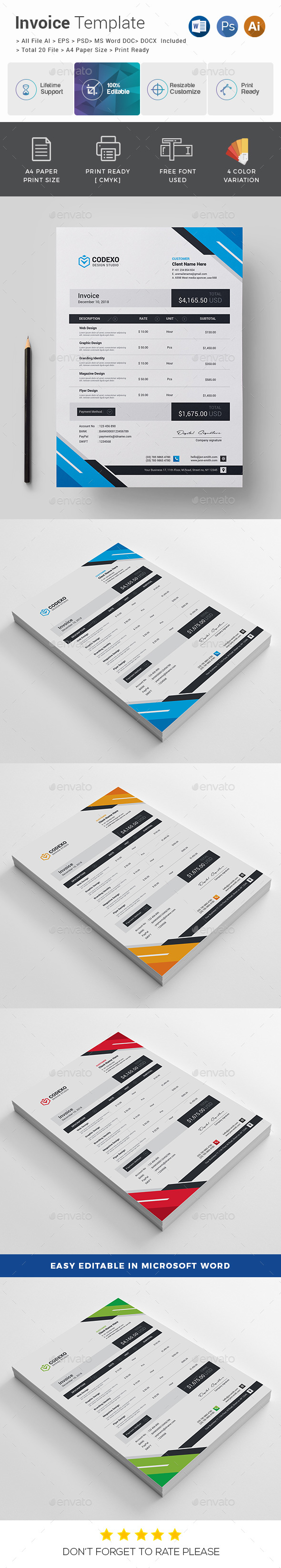 GraphicRiver Invoice 20763146