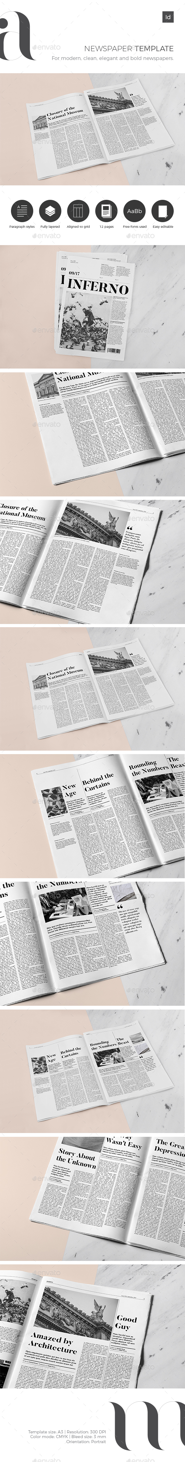 GraphicRiver Newspaper Template 20763300