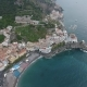 City By the Ocean with a Lot of Ancient Homes from Above - VideoHive Item for Sale