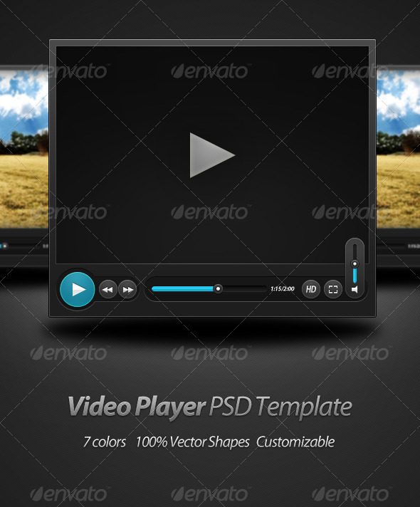 Video Player PSD Template - Miscellaneous Web Elements