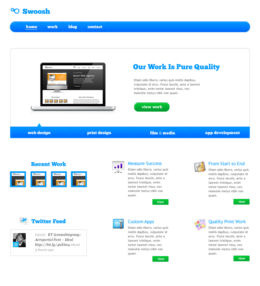 Free Download Swoosh - Professional HTML Theme Nulled Latest Version