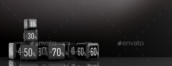 Black Friday sale concept. 3d illustration - Stock Photo - Images