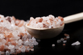 Salt Spoon On Black - PhotoDune Item for Sale