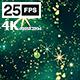 Glitter Star Green 4K