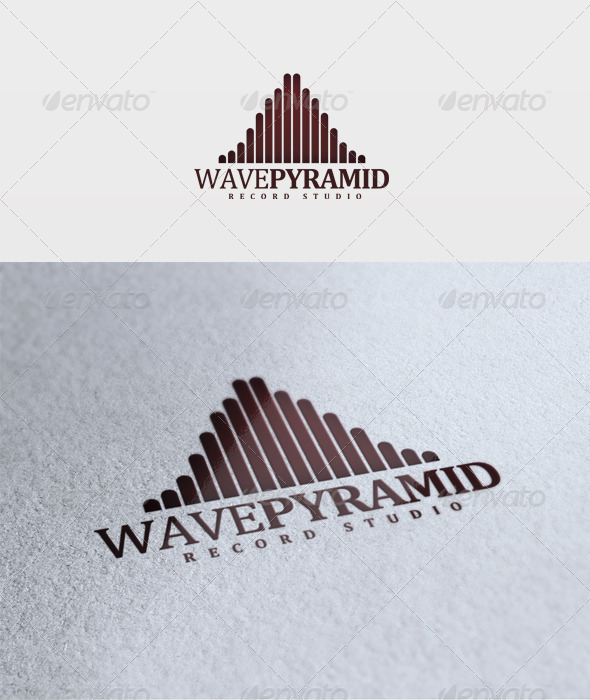 Wave Pyramid Logo - Vector Abstract