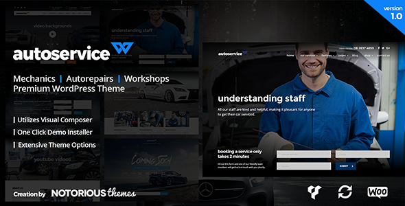 AutoService - Car Mechanics, Auto Repairs and Car Workshops WordPress Theme - Business Corporate