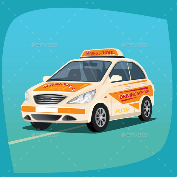GraphicRiver Isolated Instructional Vehicle 20764179