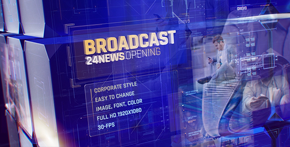 Broadcast 24 News Opening Id