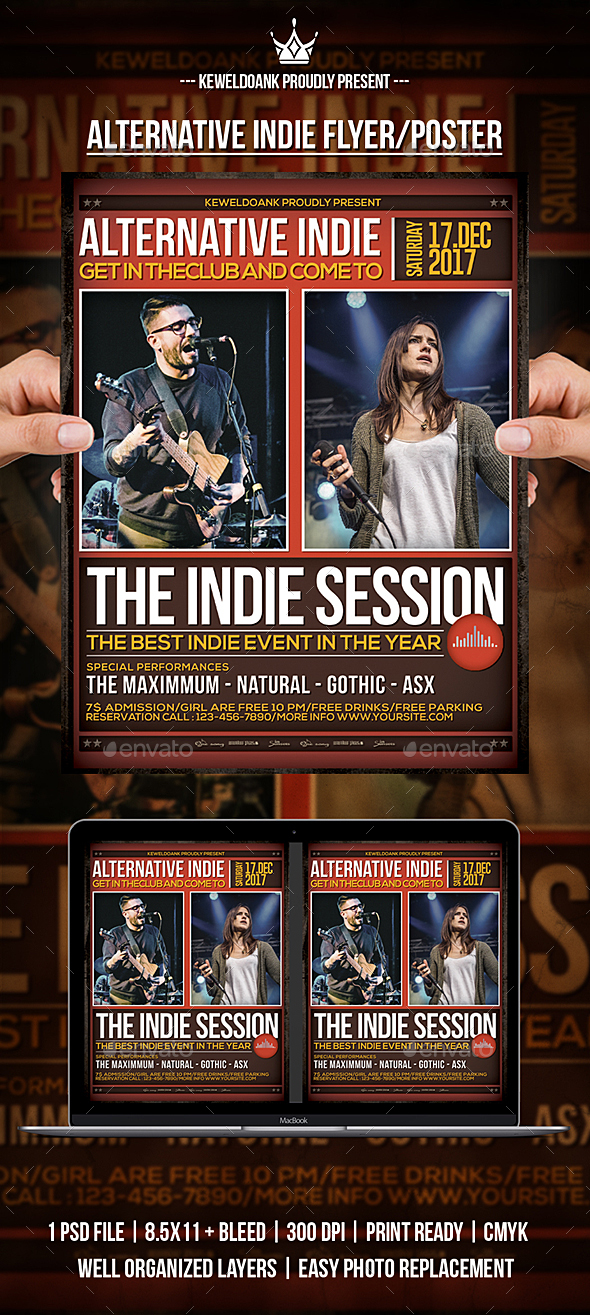 Alternative Indie Flyer / Poster - Events Flyers