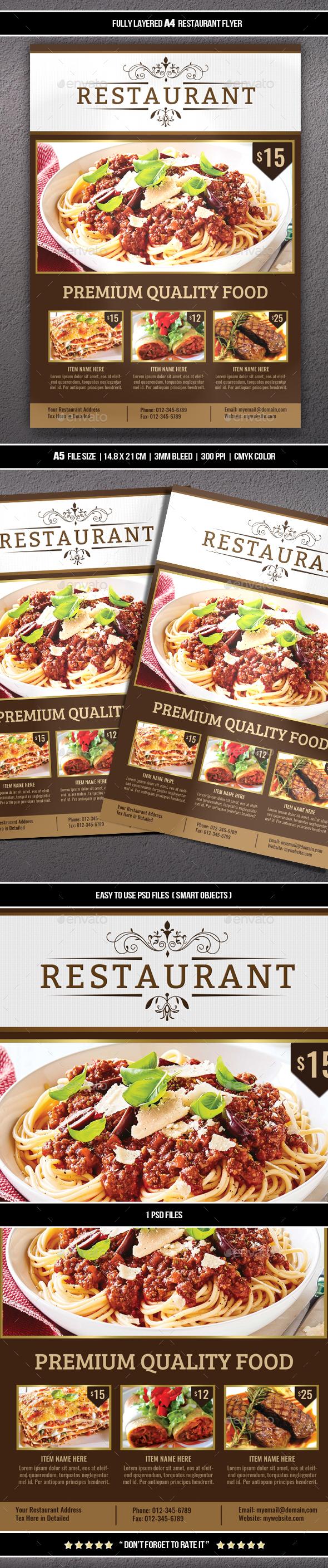 Restaurant Flyer (A4)
