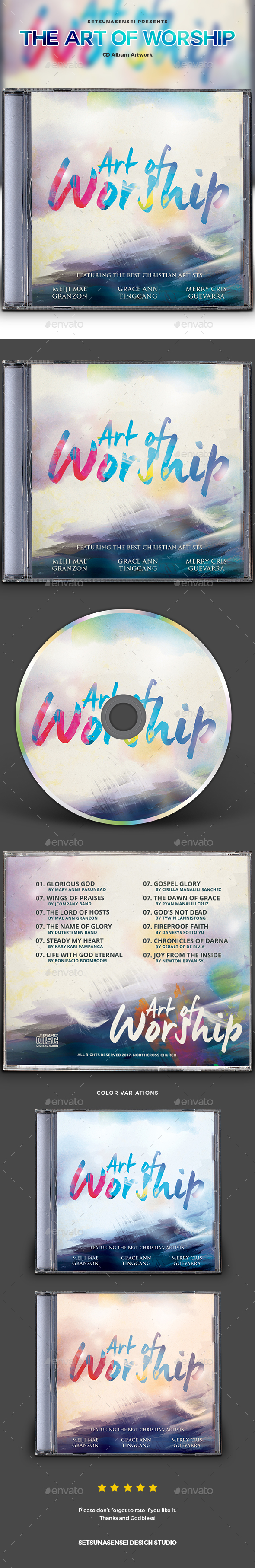 The Art of Worship CD Album Artwork - CD & DVD Artwork Print Templates