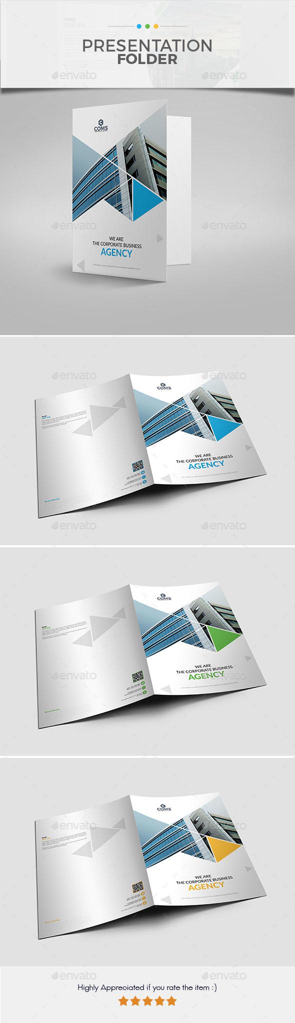 Presentation Folder 06 - Stationery Print Templates