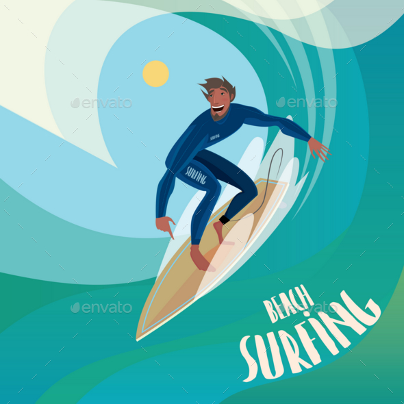 GraphicRiver Surfer on the Wave 20764521