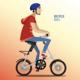 Man on Fashionable Folding Bike