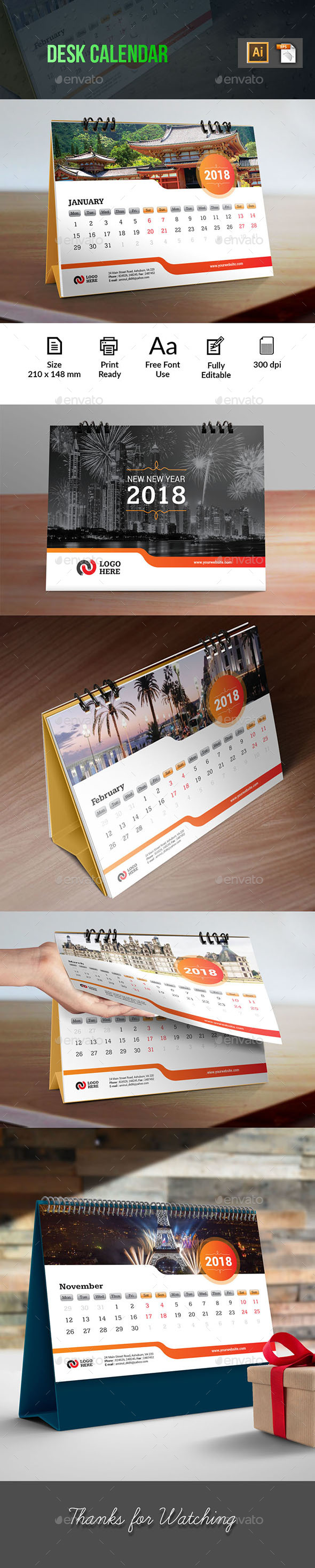 Desk Calendar - Calendars Stationery