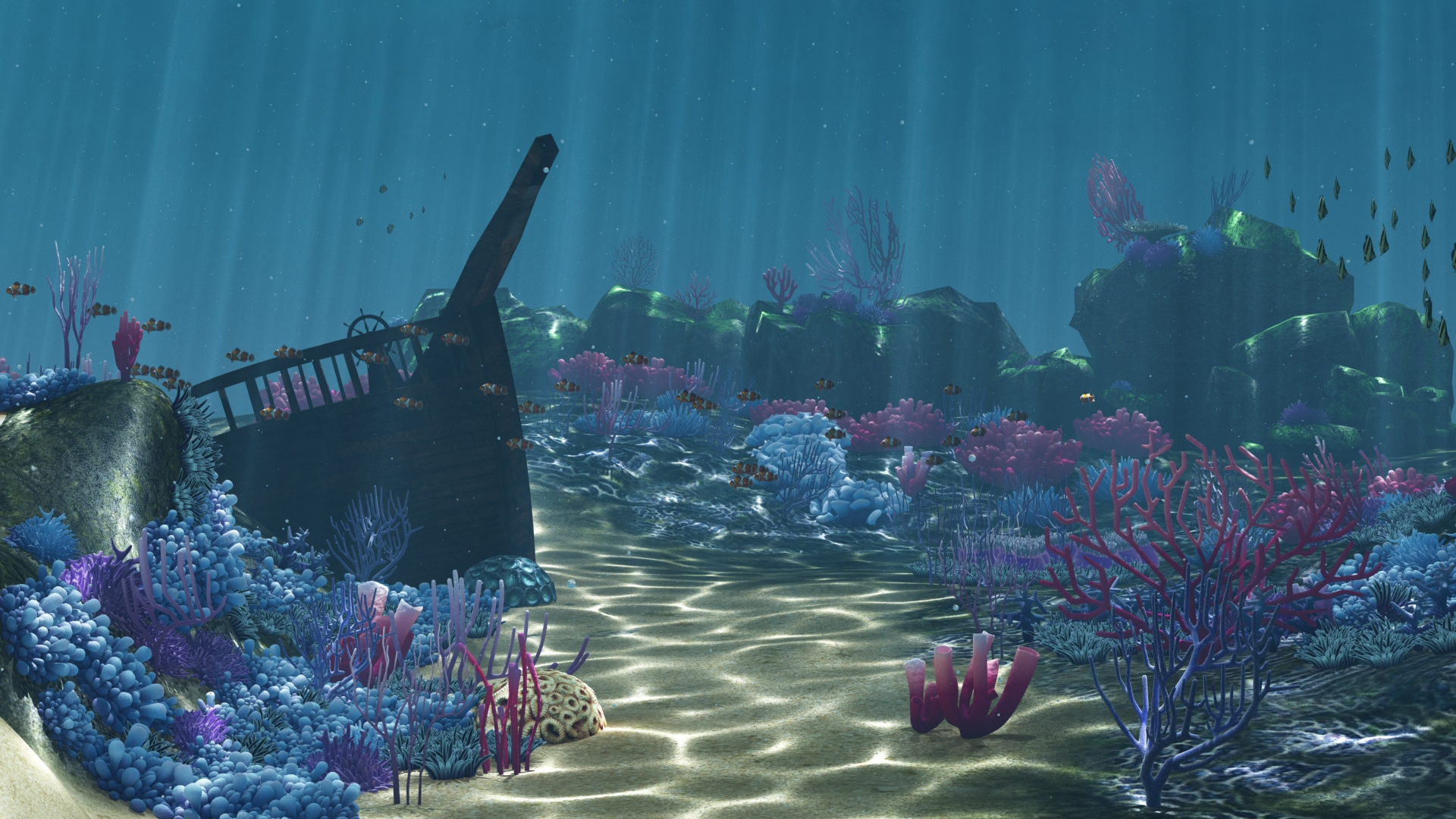 Ocean Floor Coral Reefs Cartoon Underwater By Djeymax