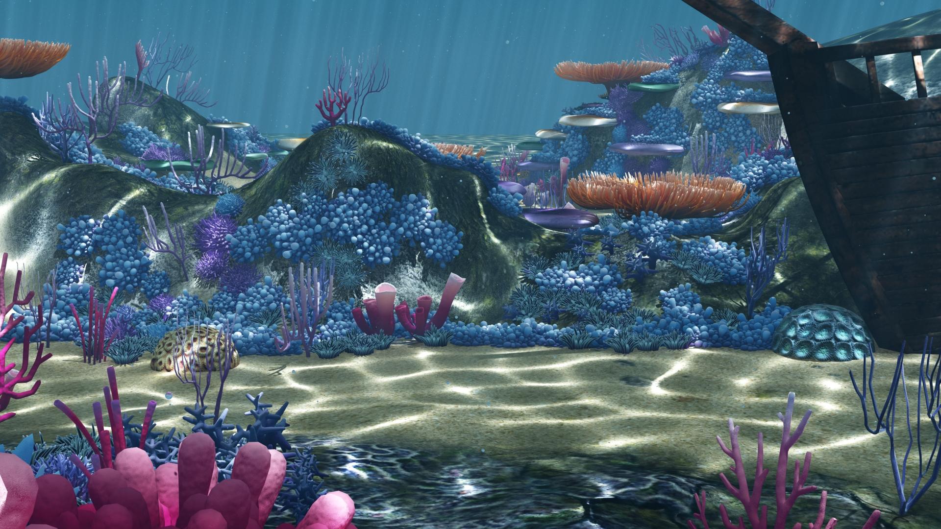 Ocean Floor Coral Reefs Cartoon Underwater Djeymax Docean