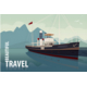 Old Cruise Boat at the Pier in Clear Day - GraphicRiver Item for Sale