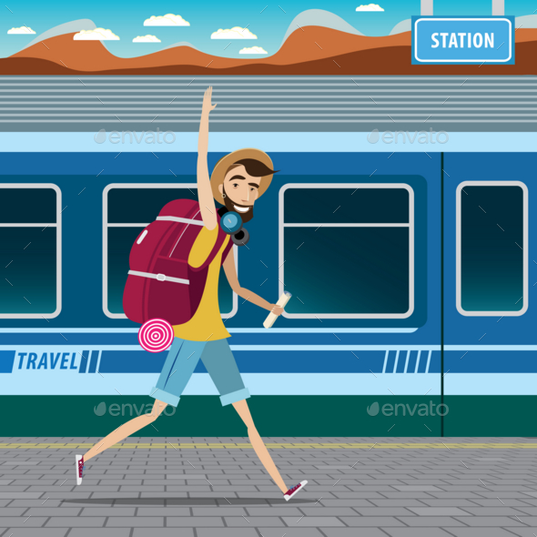 GraphicRiver Backpacker at the Railway Station 20764927