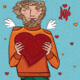 Man Holds Heart - GraphicRiver Item for Sale