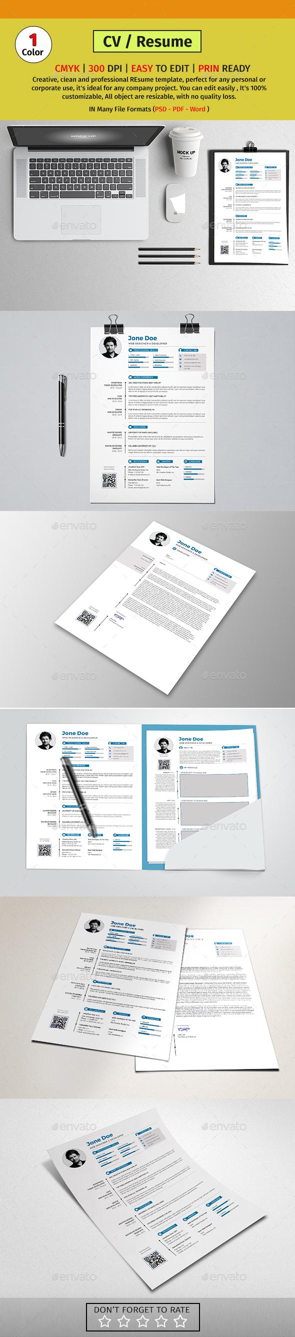 A4 Resume/CV #07 - Resumes Stationery