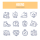 Hiking Doodle Icons - GraphicRiver Item for Sale