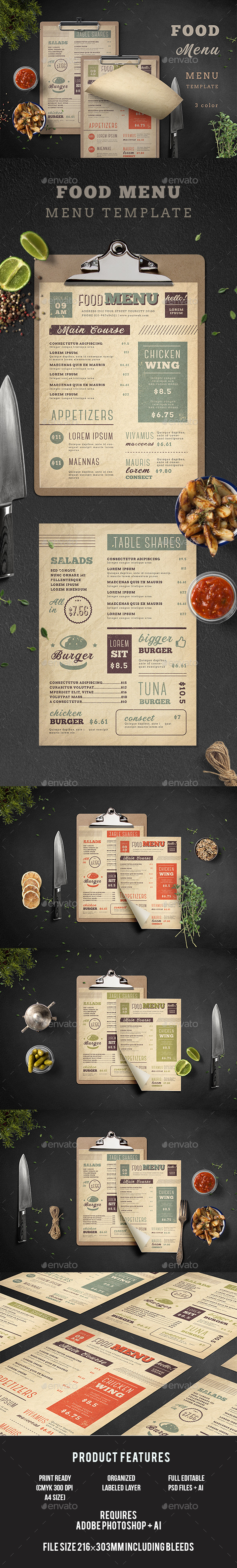 GraphicRiver Food Menu 20765111