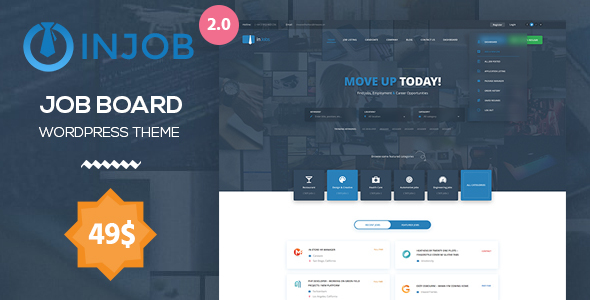 Image of Job Board WordPress Theme - InJob