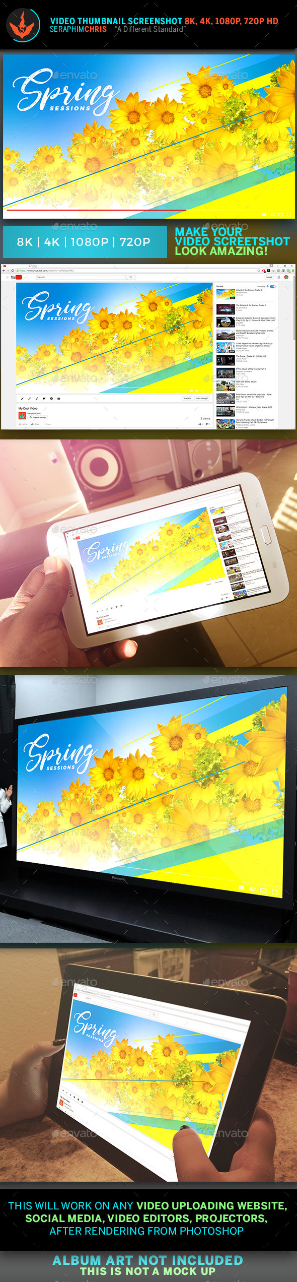 Spring Break YouTube Video Artwork Template - YouTube Social Media