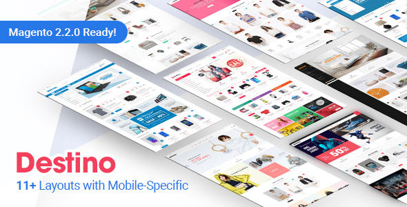 Image of Destino - Premium Responsive Magento Theme with Mobile-Specific Layouts