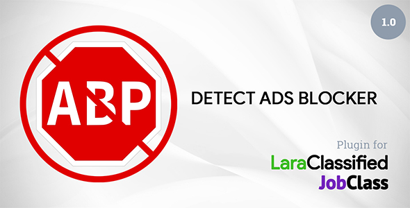 Detect Ads Blocker Plugin For LaraClassified And JobClass - CodeCanyon Item for Sale