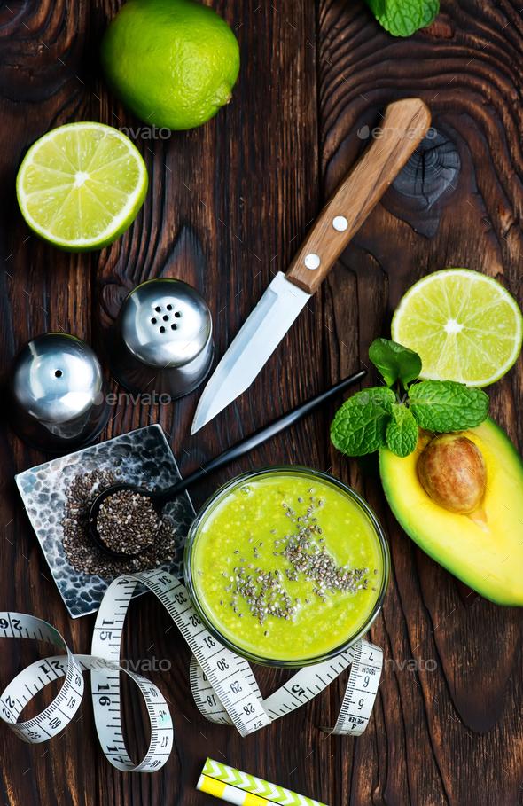 avocado smoothie - Stock Photo - Images